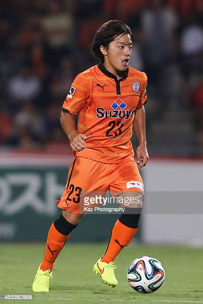 Yoshiaki Takagi of Shimizu S-Pulse in action during the J. League match between Shimizu S-Pulse and Tokushima Voltis at IAI Stadium Nihondaira on...