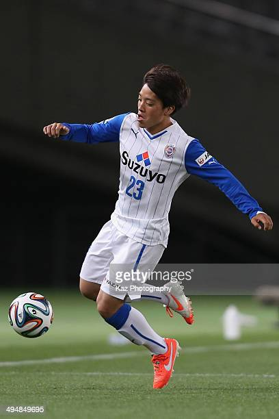 Yoshiaki Takagi of Shimizu S-Pulse in action during the J.League Yamazaki Nabisco Cup Group A match between FC Tokyo and Shimizu S-Pulse ant...