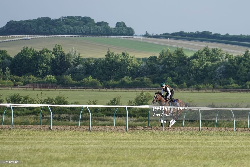 Yoshida on the gallops on June 14, 2018 in Newmarket, England.