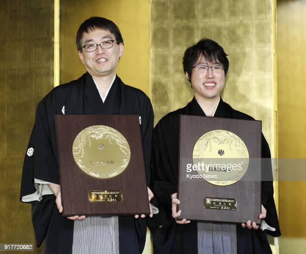 Yoshiharu Habu who after retirement will become a lifetime holder of seven of shogi's eight major titles and Yuta Iyama who holds seven major Go...