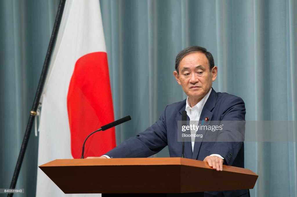 Japan's Chief Cabinet Secretary Yoshihide Suga Speaks On North Korea Missile Passing Over Japan