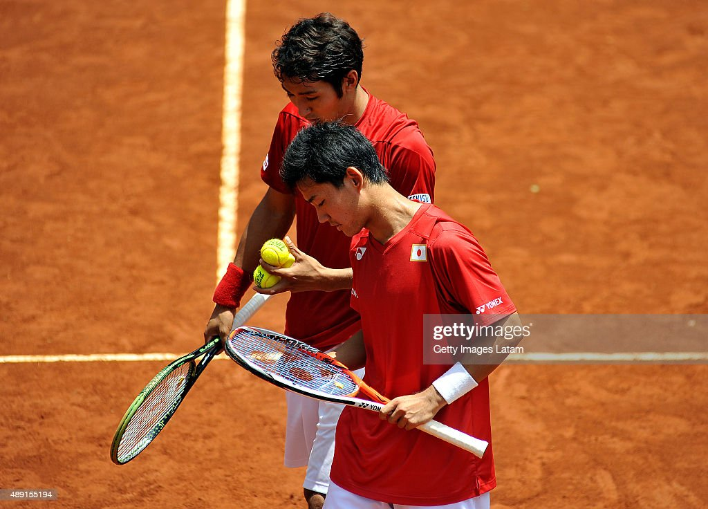 Colombia v Japan - Davis Cup World Group Play-Off - Day 2 : News Photo