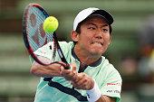 melbourne australia yoshihito nishioka japan plays