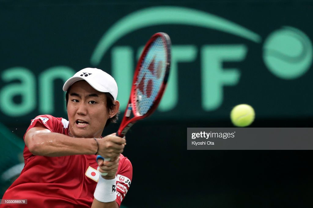Japan v Bosnia & Herzegovina - Davis Cup World Group Play-Off - Day 1 : News Photo