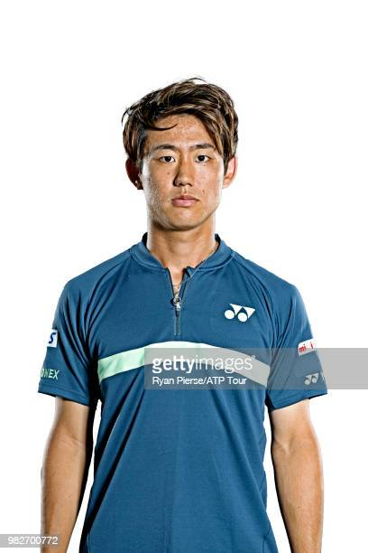 Yoshihito Nishioka of Japan poses for portraits during the Australian Open at Melbourne Park on January 12 2018 in Melbourne Australia