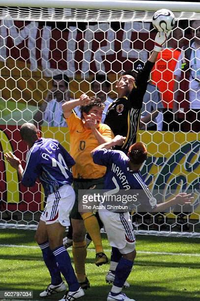 Yoshikatsu Kawaguchi of Japan during the FIFA World Cup Germany 2006 Group F match between Australia and Japan at the Fritz Walter stadion on June 12...