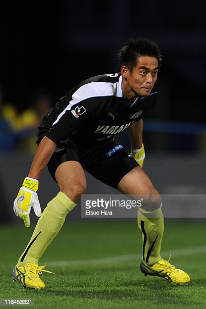Yoshikatsu Kawaguchi of Jubilo Iwata in action during the JLeague match between Kashiwa Reysol and Jubilo Iwata at Hitachi Kashiwa Soccer Stadium on...