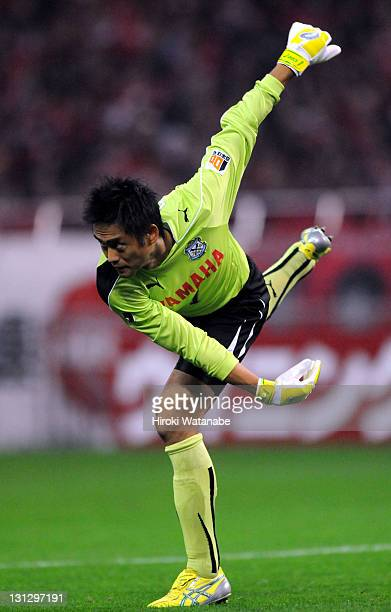 Yoshikatsu Kawaguchi of Jubilo Iwata in action during the JLeague match between Urawa Red Diamonds and Jubilo Iwata at Saitama Stadium on November 3...