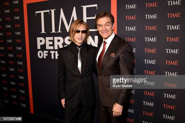 Yoshiki and Mehmet Oz attend the TIME Person Of The Year Celebration at Capitale on December 12 2018 in New York City