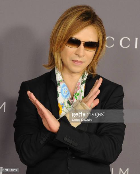 Yoshiki arrives at the 2017 LACMA Art Film Gala honoring Mark Bradford and George Lucas at LACMA on November 4 2017 in Los Angeles California