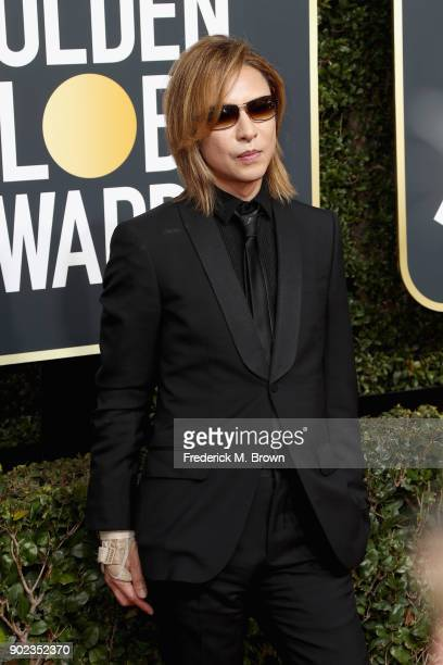 Yoshiki attends The 75th Annual Golden Globe Awards at The Beverly Hilton Hotel on January 7 2018 in Beverly Hills California