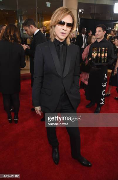 Yoshiki celebrates The 75th Annual Golden Globe Awards with Moet Chandon at The Beverly Hilton Hotel on January 7 2018 in Beverly Hills California