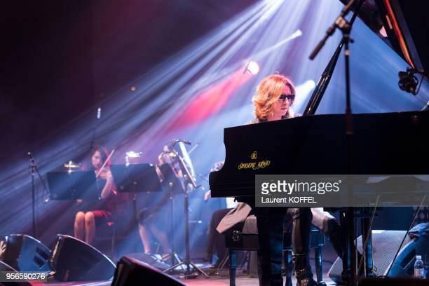 Yoshiki Hayash en concert durant la 'Japan Expo' le 4 juillet 2014 au parc des expositions à Villepinte France