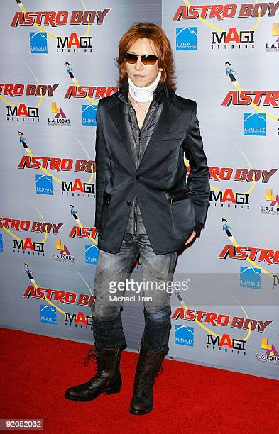 Yoshiki Hayashi arrives to the Los Angeles premiere of Astro Boy held at Grauman's Chinese Theatre on October 19 2009 in Los Angeles California