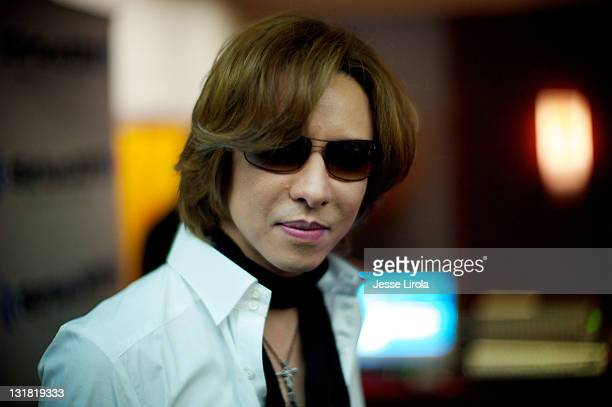 Yoshiki Hayashi attends the SiriusXM Yoshiki Radio launch during Anime Central Convention 2011 at the Hyatt Regency O'Hare on May 21 2011 in Rosemont...