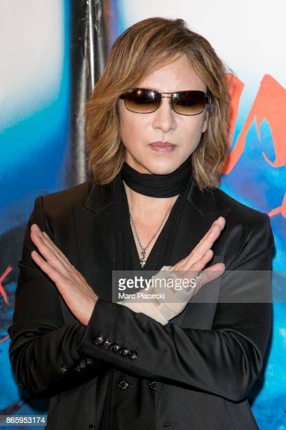 Yoshiki Hayashi attends the 'We are X' Premiere at UGC Cine Cite des Halles on October 24 2017 in Paris France