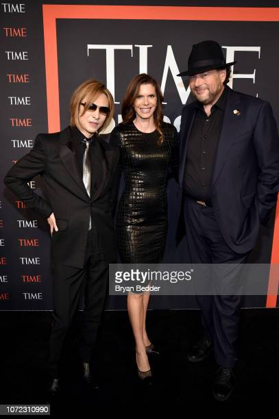 Yoshiki Lynne Benioff and Marc Benioff attend the TIME Person Of The Year Celebration at Capitale on December 12 2018 in New York City
