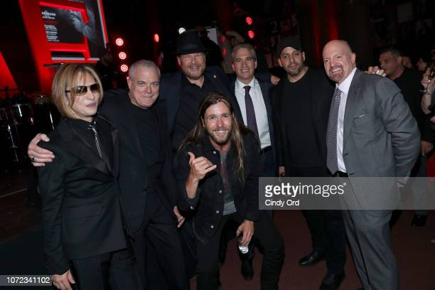 Yoshiki Marc Benioff Lukas Nelson David Blaine and guests attend the TIME Person Of The Year Celebration at Capitale on December 12 2018 in New York...