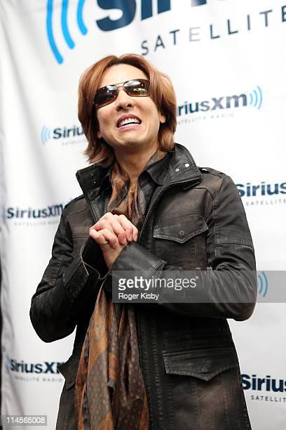 "Yoshiki of X-Japan announces the launch of ""Yoshiki Radio"" at SiriusXM Studio on May 23, 2011 in New York City."