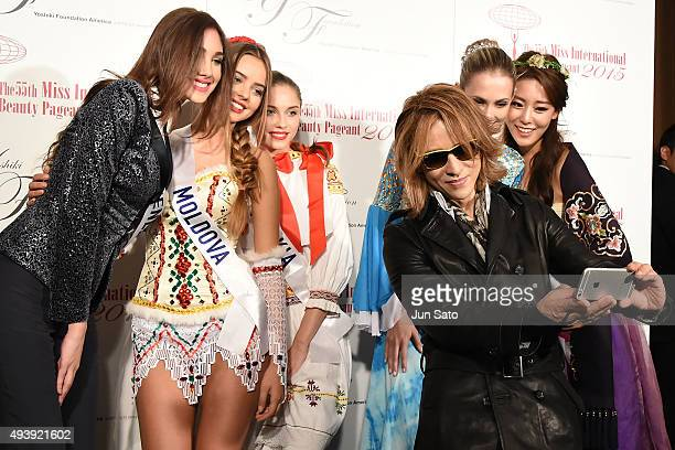 Yoshiki of XJapan attends the Miss International x YOSHIKI Charity Gala 2015 at the Happoen on October 23 2015 in Tokyo Japan