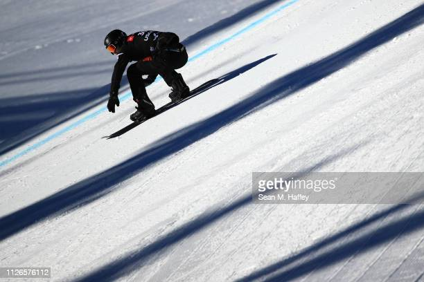 Yoshiki Takahara of Japan competes during during the Men's Snowboard Cross Qualifier of the FIS Snowboard World Championships January 31 2019 at...