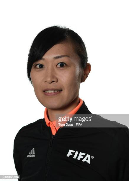 Yoshimi Yamashita of Japan poses for photographs during the FIFA Women's Referee Seminar on February 14 2018 in Doha Qatar