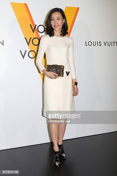 "Yoshino Kimura attends the Louis Vuitton Exhibition ""Volez, Voguez, Voyagez"" on April 21, 2016 in Tokyo, Japan."