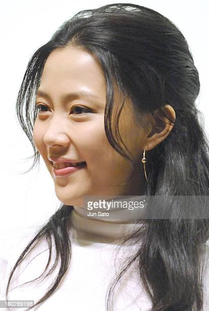 """Yoshino Kimura during """"Open Season"""" Stage Greeting - December 9, 2006 at Nichigeki 3 in Tokyo, Japan."""