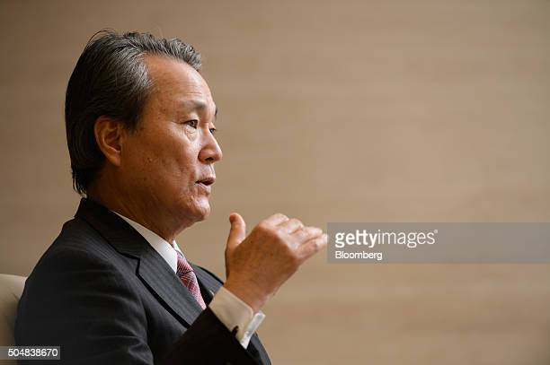 Yoshinobu Tsutsui president of Nippon Life Insurance Co speaks during an interview in Tokyo Japan on Wednesday Jan 13 2016 Nippon Life Japan's...