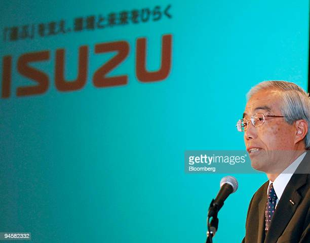 Yoshinori Ida president of Isuzu Motors Ltd speaks during a news conference in Tokyo Japan on Thursday May 24 2007 Isuzu Motors Ltd Japan's biggest...