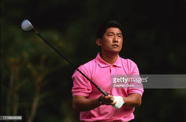 Yoshinori Kaneko of Japan during the Nissan Los Angeles Open golf tournament on 23rd February 1995 at the Riviera Country Club Golf Course in Pacific...