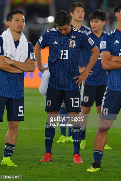 Yoshinori Muto of Japan looks dejected during the ceremony after losing the AFC Asian Cup final match between Japan and Qatar at Zayed Sports City...