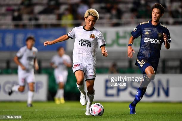 Yoshio KOIZUMI of FC Ryukyu in action during the J.League Meiji Yasuda J2 match between Matsumoto Yamaga and FC Ryukyu Sunpro Alwin on September 23,...