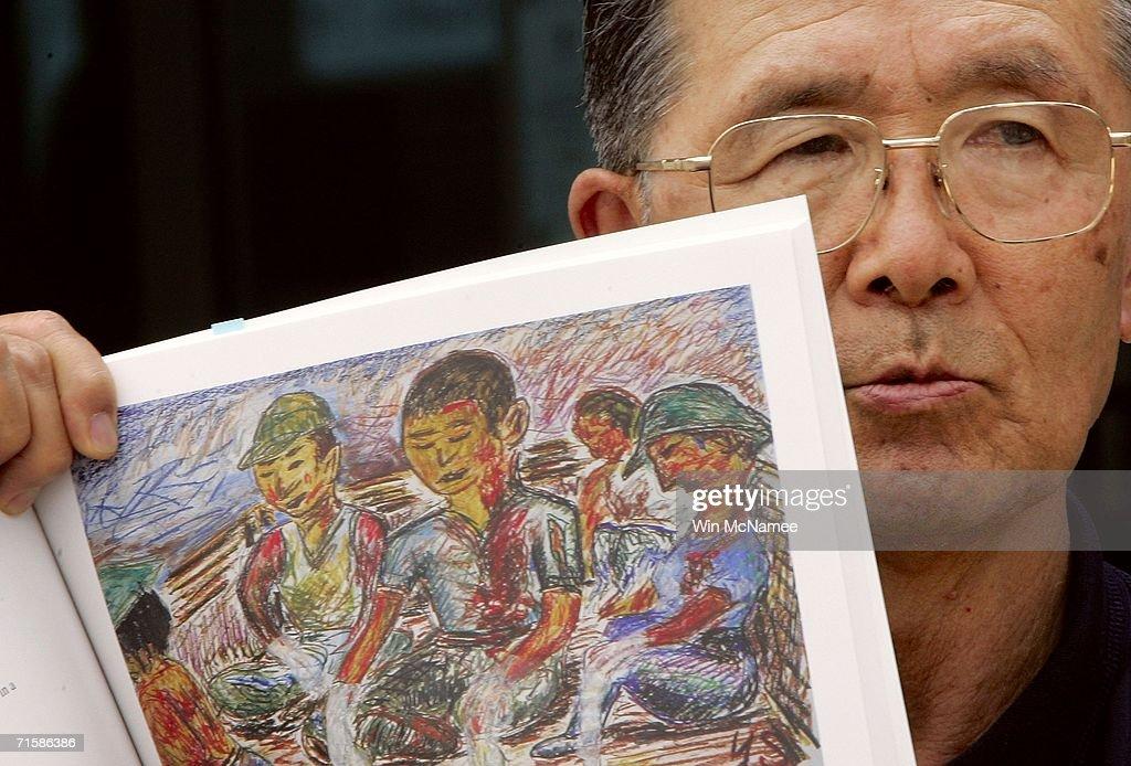 Japanese Atom Bomb Survivors Visit Enola Gay Exhibit : News Photo