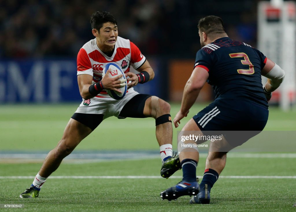 Yoshitaka Tokunaga of Japan during the international rugby union match between France and Japan at U Arena on November 25, 2017 in Nanterre, France.