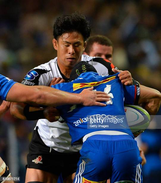 Yoshitaka Tokunaga of the Sunwolves during the Super Rugby match between DHL Stormers and Sunwolves at DHL Newlands on July 08 2017 in Cape Town...