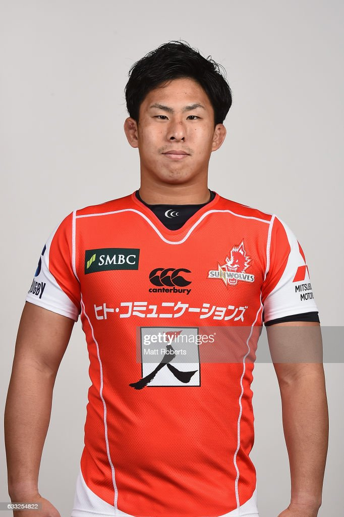 Yoshitaka Tokunaga poses during the Sunwolves Super Rugby headshots session on February 1, 2017 in Tokyo, Japan.