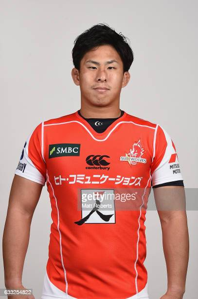 Yoshitaka Tokunaga poses during the Sunwolves Super Rugby headshots session on February 1 2017 in Tokyo Japan