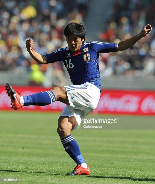 Yoshito Okubo in action during the international math between South Africa and Japan from Nelson Mandela Bay Stadium on November 14, 2009 in Port...