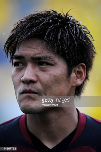 Yoshito Okubo of Vissel Kobe looks on during the JLeague match between Kashiwa Reysol and Vissel Kobe at Hitachi Kashiwa Soccer Stadium on May 28...
