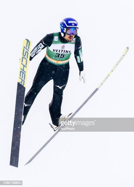 Yoshito Watabe competes during Nordic Combined PCR/Qualification at Lahti Ski Games in Lahti Finland on 8 February 2019