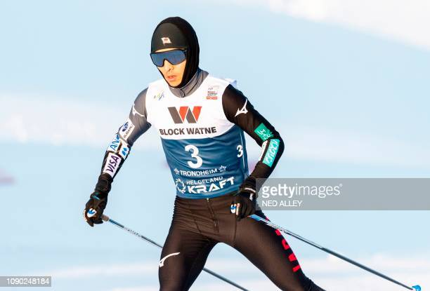 Yoshito Watabe of Japan competes during the 10km FIS Nordic Combined World Cup event in Granaasen near Trondheim in Norway on January 27 2019 /...