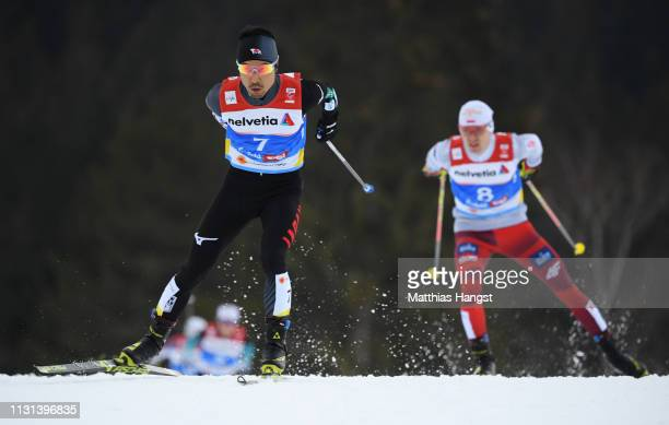 Yoshito Watabe of Japan competes during the Nordic Combined Competition of the FIS Nordic World Ski Championships on February 22 2019 in Seefeld...