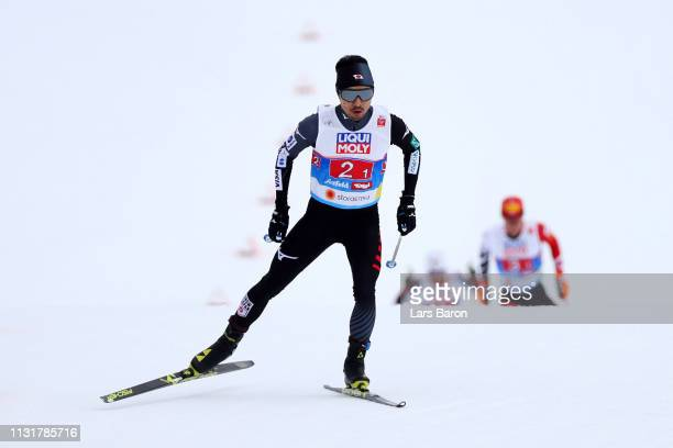Yoshito Watabe of Japan competes in Team Sprint during the CrossCountry leg for the Nordic Combined during the FIS Nordic World Ski Championships on...