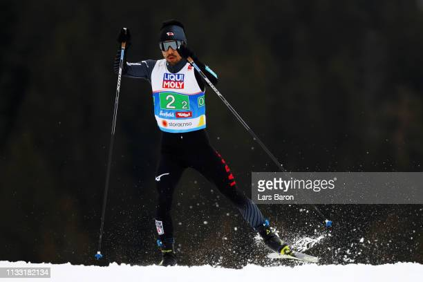 Yoshito Watabe of Japan competes in the CrossCountry leg of the Nordic Combined HS109 Team competition during the FIS Nordic World Ski Championships...