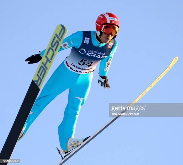 Yoshito Watabe of Japan competes in the ski jumping of the Men's Gundersen LH HS140/100 K during day two of the FIS Nordic Combined World Cup on...