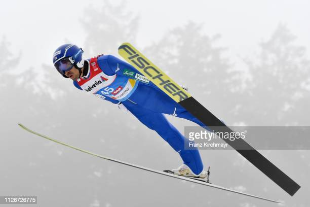 Yoshito Watabe of Japan during the Men's Nordic Combined HS130/10km at the FIS Nordic World Ski Championships at Bergisl Schanze on February 22 2019...