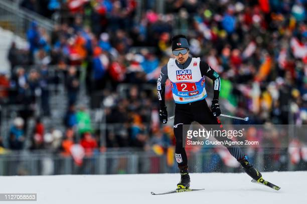 Yoshito Watabe of Japan in action during the FIS Nordic World Ski Championships Men's Nordic Combined Team HS130 on February 24 2019 in Seefeld...