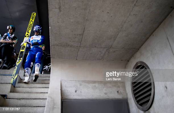 Yoshito Watabe of Japan is seen during the ski jumping training for the Nordic Combined Competition of the FIS Nordic World Ski Championships on...