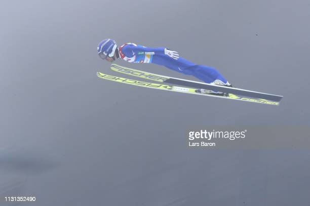 Yoshito Watabe of Japan jumps during the Nordic Combined Competition of the FIS Nordic World Ski Championships at BergiselSchanze on February 22 2019...